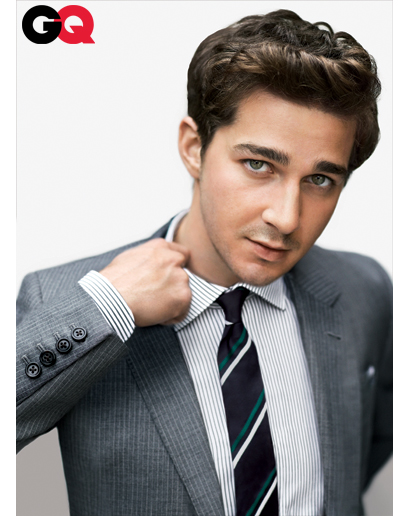 shia labeouf gq 2010. Shia LaBeouf on the April 2010